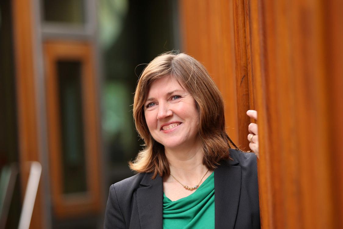 Alison Johnstone in Scottish Parliament