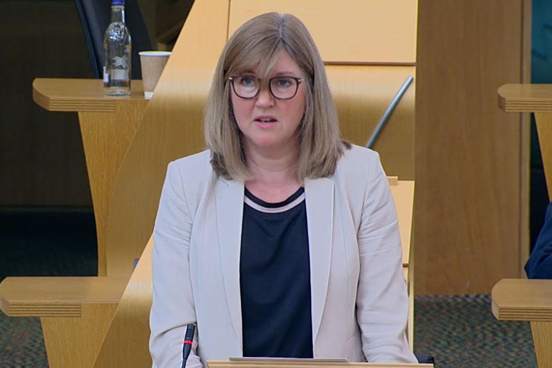 Alison Johnstone speaking in Scottish Parliament