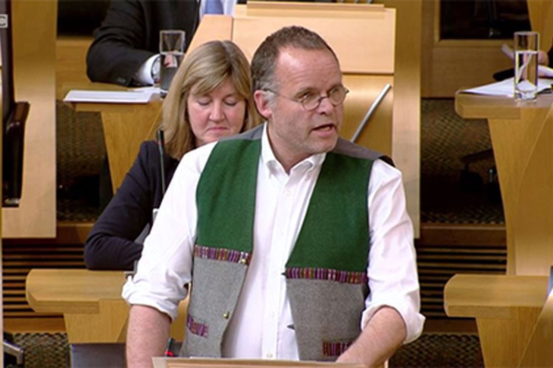 Andy Wightman MSP speaking at Scottish Parliament