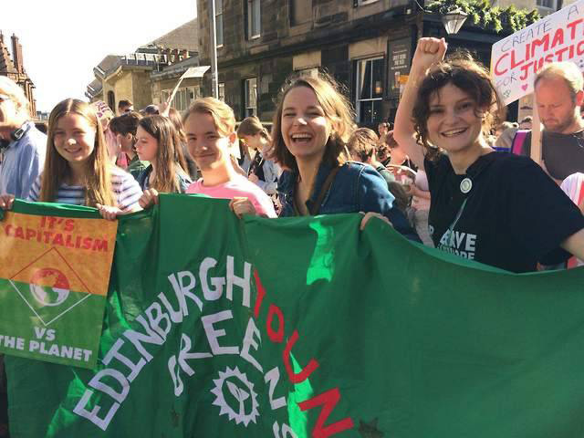 Edinburgh Young Greens on a demo