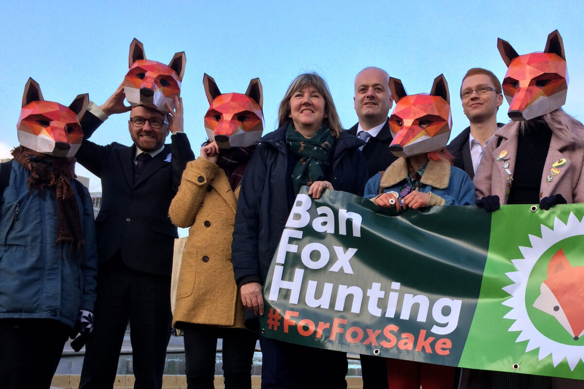 Ban fox hunting demo