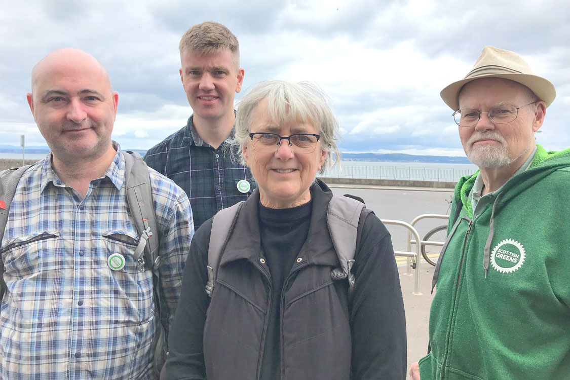 Forth campaigners beside Newhaven Harbour