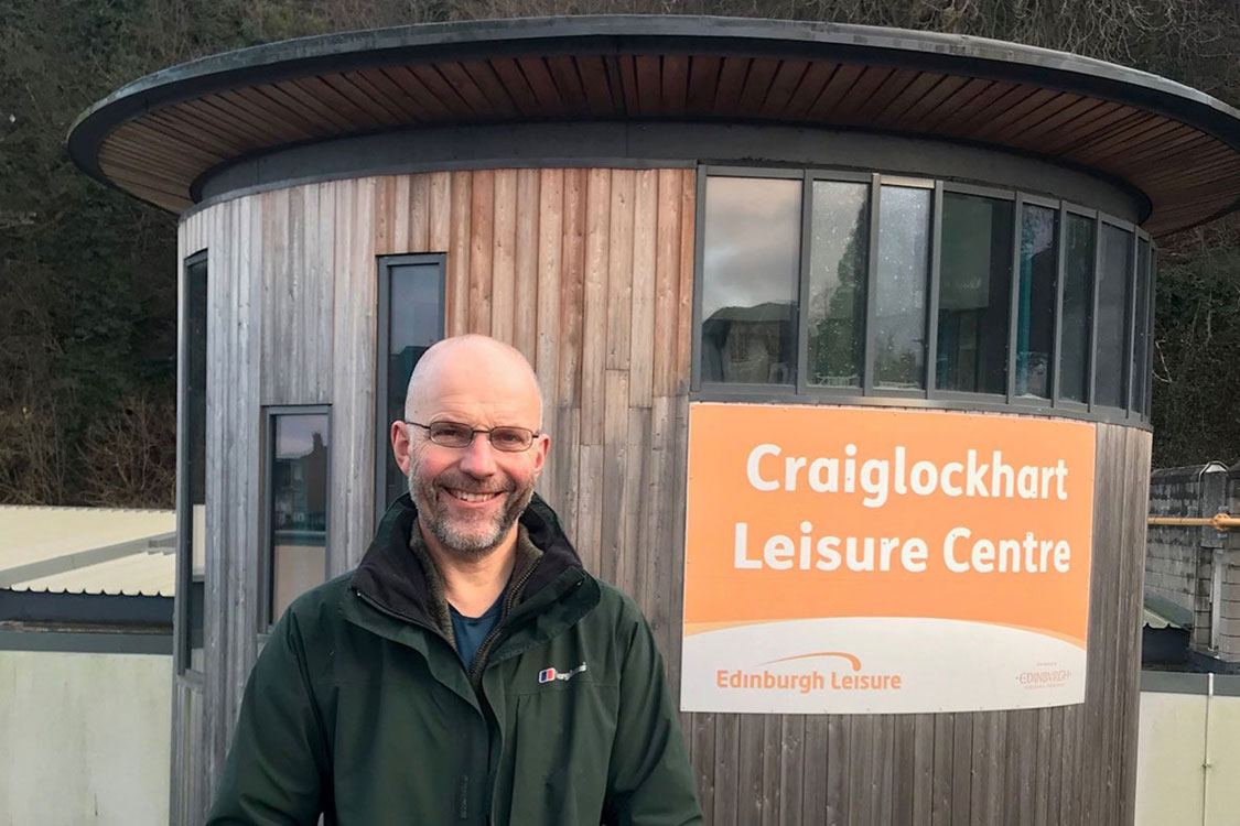 Gavin Corbett outside Craiglockhart Leisure Centre