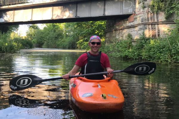 Gavin on Union Canal