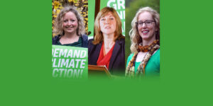 Photos of candidates - Kate Nevens, Alison Johnston and Lorna Slater