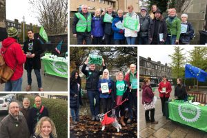 Local Green teams campaigning on the streets