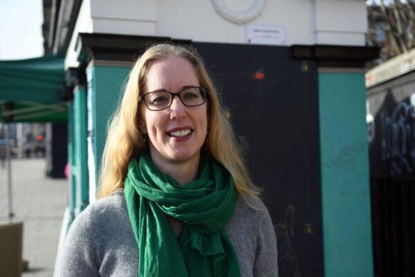 Lorna Slater on Leith Walk