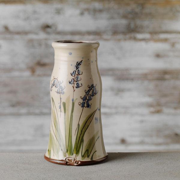 Vase with blue bell design