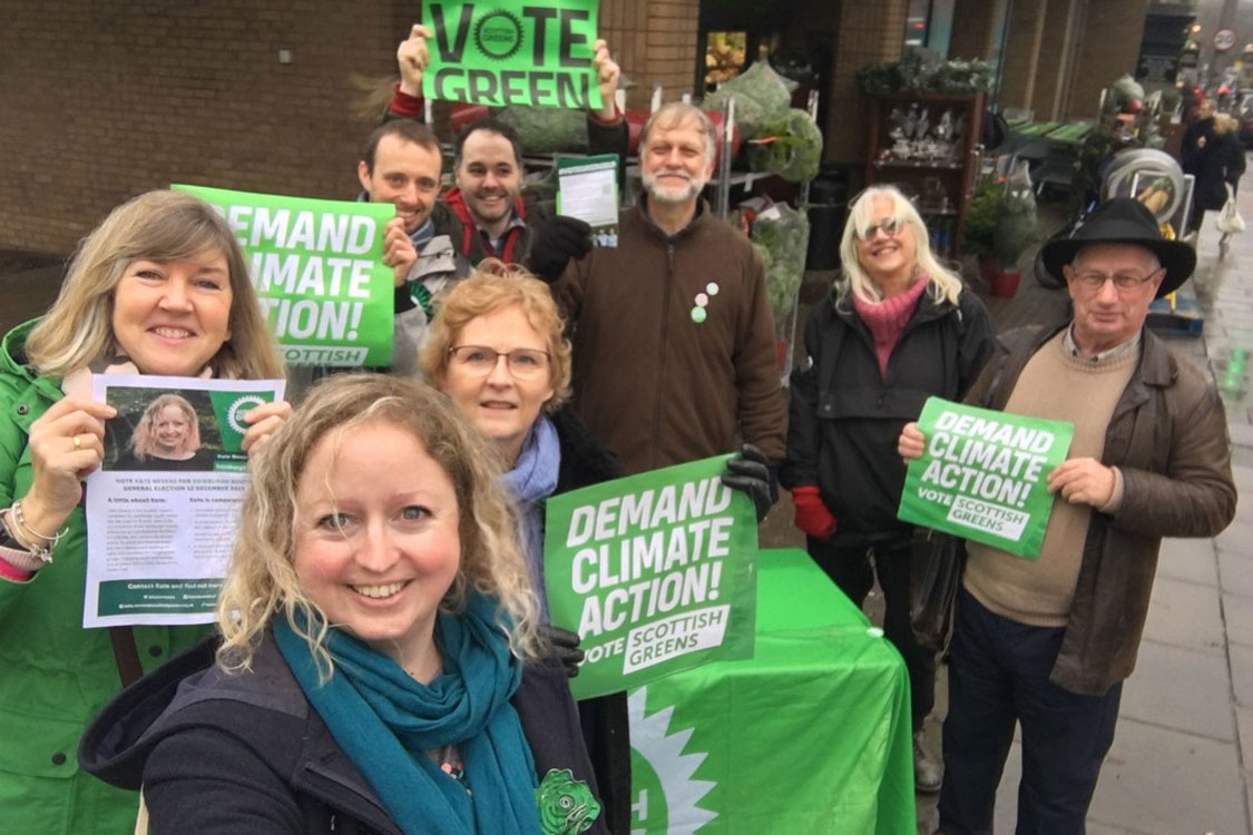 Morningside team campaigning stall with Melanie Main and Alison Johnstone