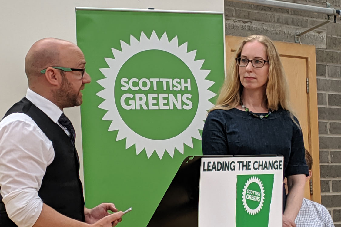Patrick and Lorna co-leaders presenting at an event